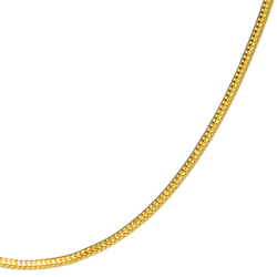 close-up of gold filled snake chain for detail