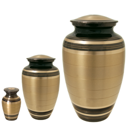Black and Brass Urn shown in mini, sharing & full-sizes