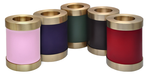 candle holder keepsake urns shown in rich colors