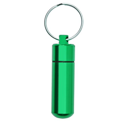 Wholesale Cremation Keychain Aluminum Urn Memorial Green