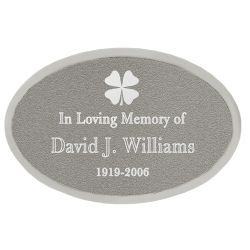 Wholesale Engraved Memorial Plaque- Small Silver Oval