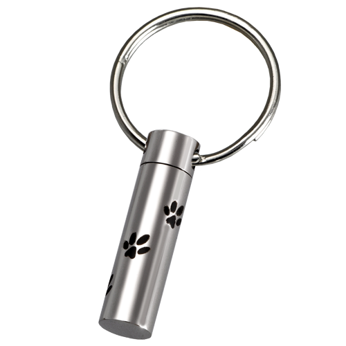 Wholesale Stainless Steel Paw Prints Pet Key-Ring