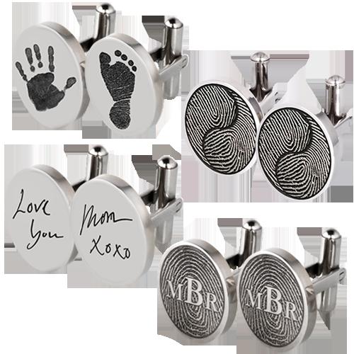Sterling Silver Fingerprint Cufflinks