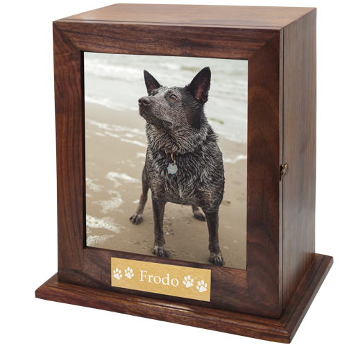 Photo Pet Urn Wood Urns For Dogs New Memorials Direct