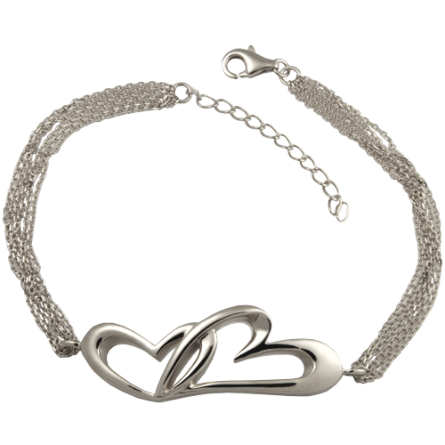 Wholesale Pet Cremation Jewelry Linked in Love Bracelet Sterling Silver