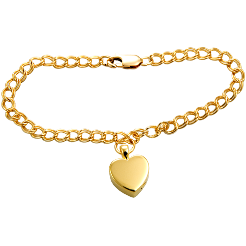Pet Cremation Jewelry Gold-filled Double Link Urn Bracelet