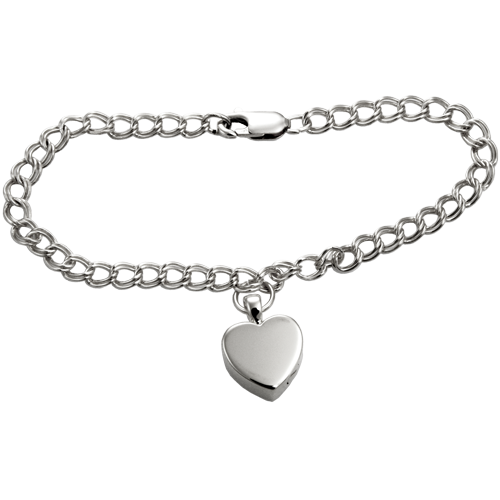 Pet Cremation Jewelry: Sterling Double Link Urn Bracelet