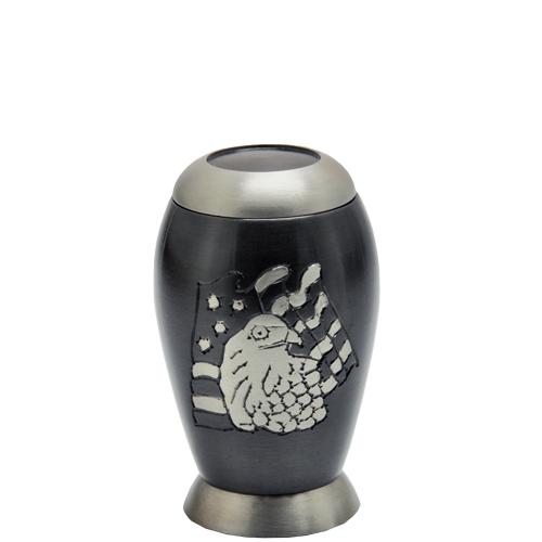 Wholesale Urn Keepsakes: Flag & Eagle Mini Keepsake