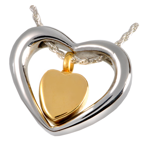 Wholesale Cremation Jewelry Stainless Steel Heart of Gold