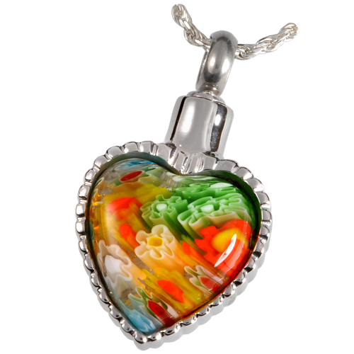 Wholesale Cremation Jewelry Stainless Steel Art Glass Heart I