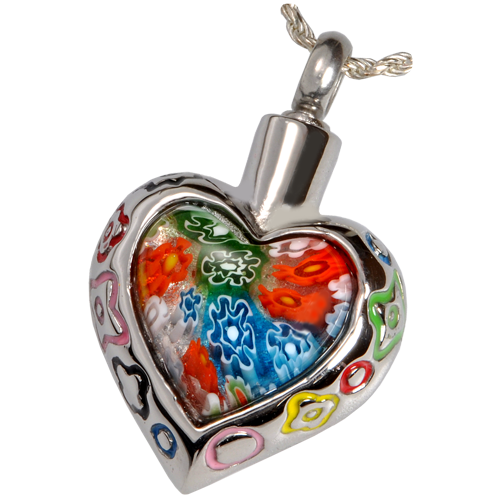 Wholesale Cremation Jewelry Stainless Steel Art Glass Heart II