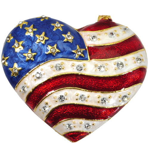 Wholesale Urn Keepsake: Patriotic Heart