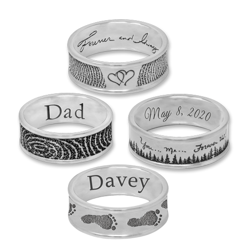 stainless steel band rings