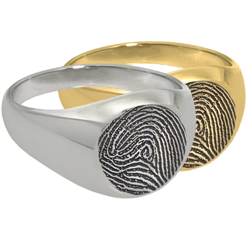 Wholesale Fingerprint Elegant Round Ring in silver or gold metals
