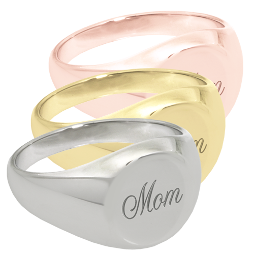 Elegant Round Ring Cremation Jewelry with script