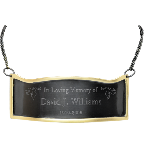 Wholesale Engraved Memorial Plaque- Contoured Slate & Brass