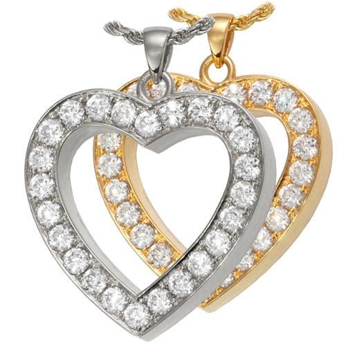 Eternal Love wholesale jewelry shown in silver and gold metal options