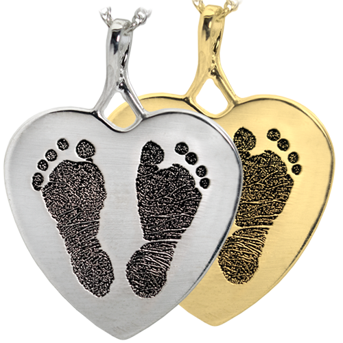 Wholesale B&B Heart 2 Footprints Jewelry no chamber silver and gold
