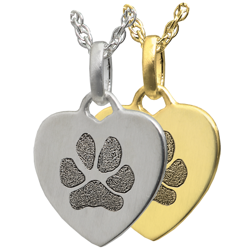 Wholesale Petite Heart Pawprint Flat Charm in silver or gold