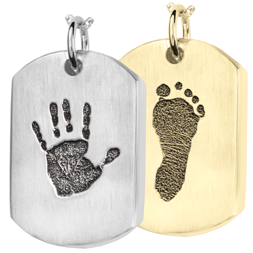 Wholesale Dog Tag with Handprint and Footprint