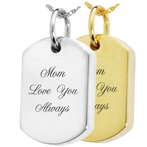 Wholesale Dog Tag with Text in sterling silver and gold