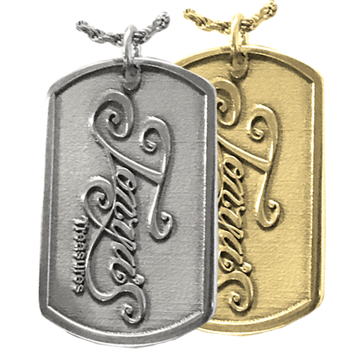 Add Your Logo Dog Tag in silver or gold