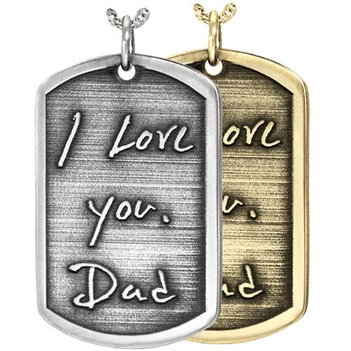 Wholesale Dog Tag with 3D Handwriting in silver and gold metals