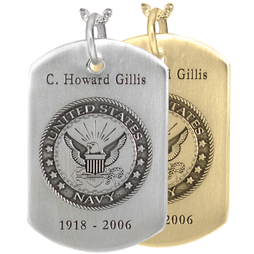 Wholesale Dog Tag with Military Emblem in silver or gold metals