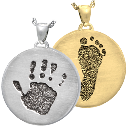 Wholesale Round Jewelry with Handprint and Footprint in silver and gold