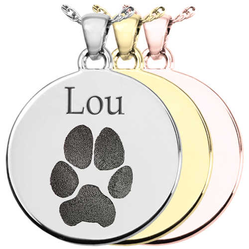Wholesale B&B Round Actual Pawprint Jewelry