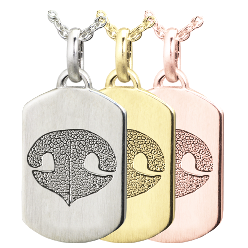 Wholesale Petite Dog Tag Noseprint Jewelry in silver or gold