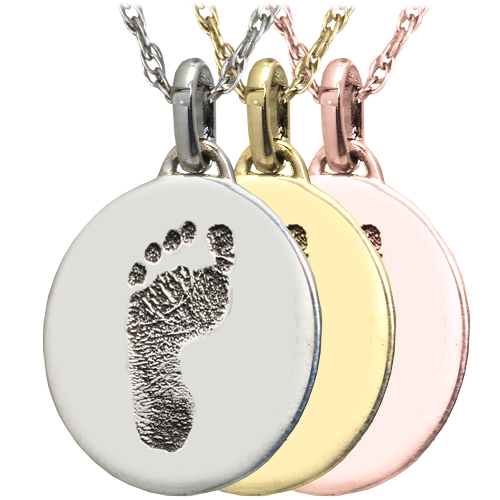 Wholesale Mini Oval Footprint flat charm in silver and gold