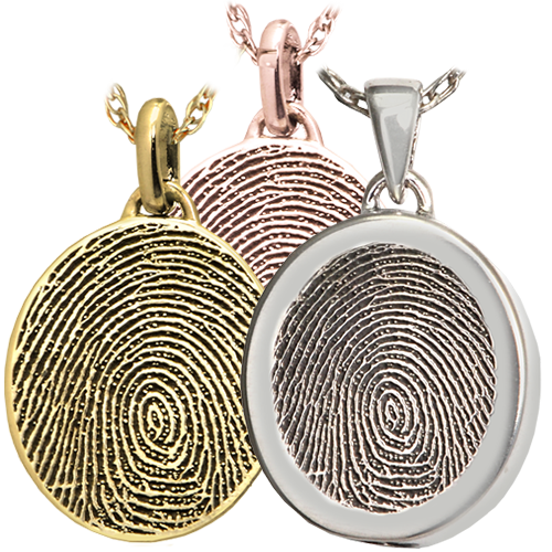 Wholesale Mini Oval Fingerprint Jewelry available in silver or gold