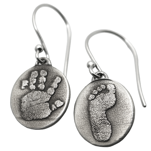 Wholesale Petite Oval Earrings Mix handprint and footprint