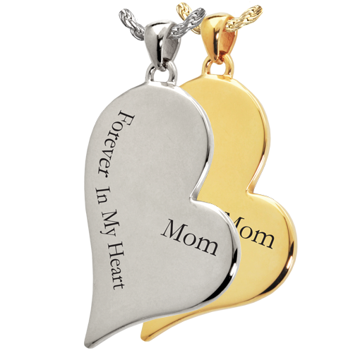 Wholesale Teardrop Heart Flat with Text Engraving in silver or gold