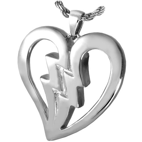 Wholesale Sterling Silver Broken Heart Cremation Jewelry