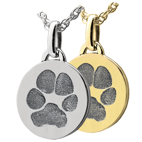 Wholesale Mini Round paw print Jewelry in silver or gold