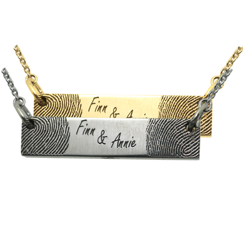 Personalized Jewelry Bar Pendant Horizontal- 2 Prints