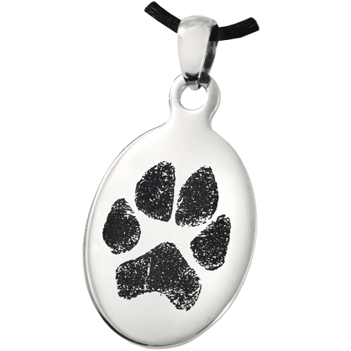 Wholesale Pet Print Jewelry: Stainless Steel Oval Tag Paw Print