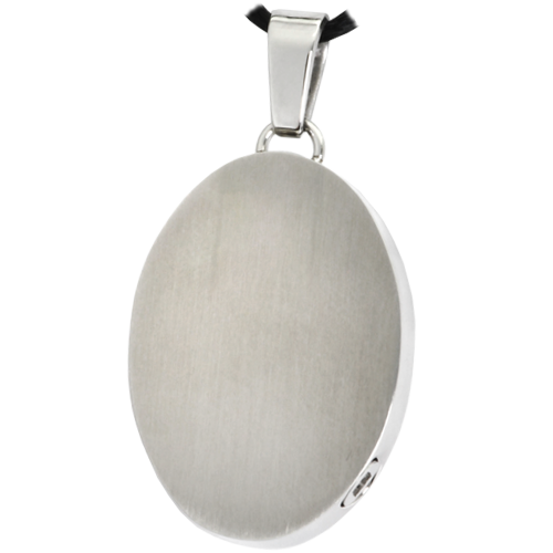 Oval necklace in stainless steel