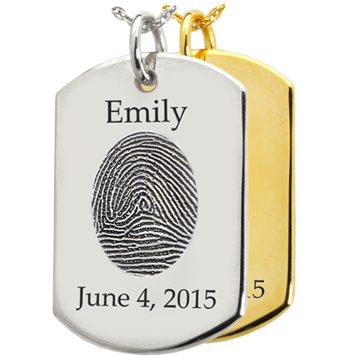 fingerprint personalized jewelry charm
