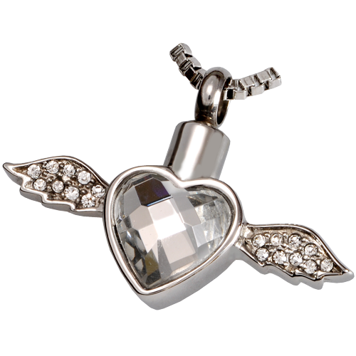 Wholesale Cremation Jewelry Stainless Steel Winged Heart