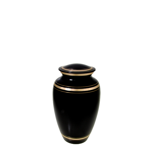 Wholesale Urn Keepsakes: Plain Black Gold Mini Keepsake