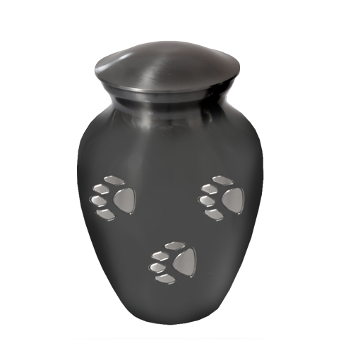 Wholesale Pet Urns: Pawprints Slate Grey, Medium