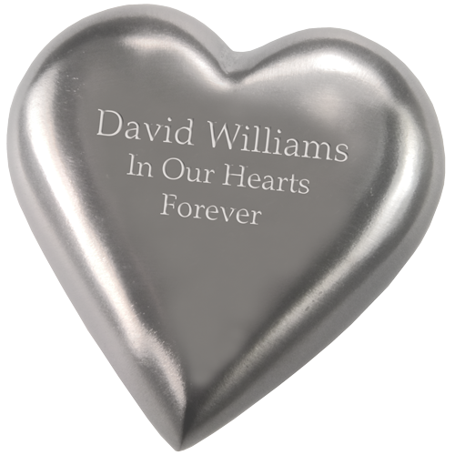 Wholesale Cremation Keepsake: Pewter Heart