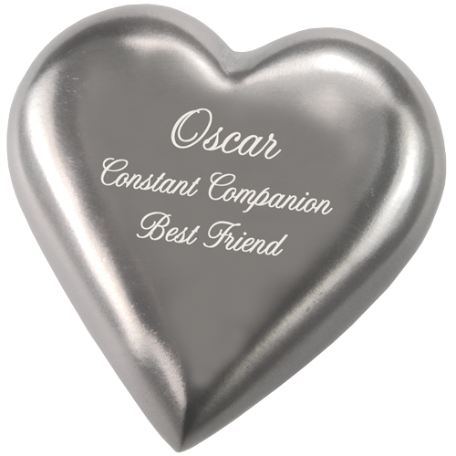 Wholesale Pet Urn Keepsake: Pewter Heart
