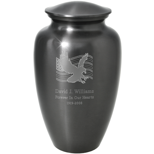 Wholesale Cremation Urns: Patriotic Flag and Eagle