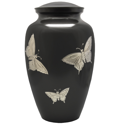 Wholesale Cremation Urns: Slate and Pewter Butterflies Urn