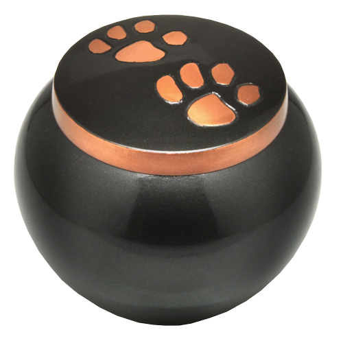 Wholesale Pet Urns: Copper Pawprints Solid Brass
