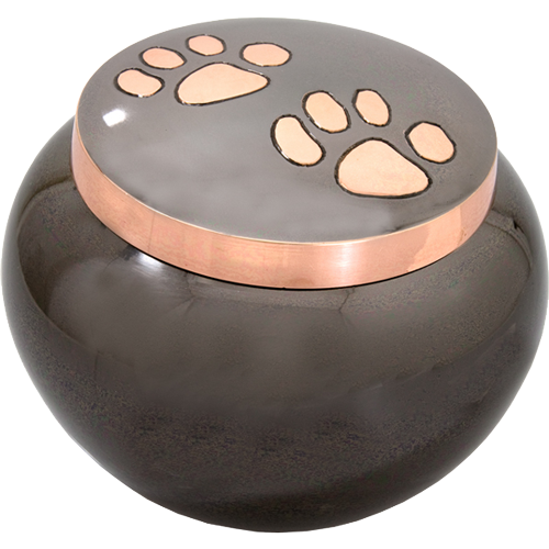 Wholesale Dog Urn Copper Pawprints Gloss- Large
